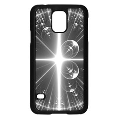 Black And White Bubbles On Black Samsung Galaxy S5 Case (Black)