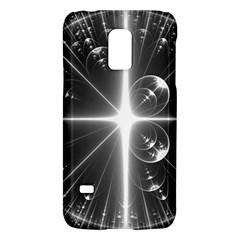 Black And White Bubbles On Black Galaxy S5 Mini