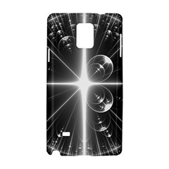Black And White Bubbles On Black Samsung Galaxy Note 4 Hardshell Case
