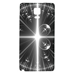 Black And White Bubbles On Black Galaxy Note 4 Back Case