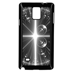 Black And White Bubbles On Black Samsung Galaxy Note 4 Case (black)
