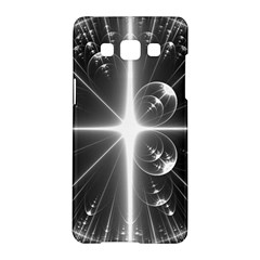 Black And White Bubbles On Black Samsung Galaxy A5 Hardshell Case