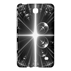 Black And White Bubbles On Black Samsung Galaxy Tab 4 (7 ) Hardshell Case