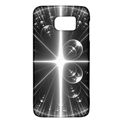 Black And White Bubbles On Black Galaxy S6