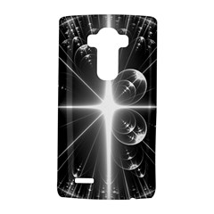 Black And White Bubbles On Black LG G4 Hardshell Case