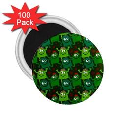 Seamless Little Cartoon Men Tiling Pattern 2.25  Magnets (100 pack)