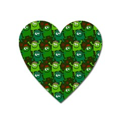 Seamless Little Cartoon Men Tiling Pattern Heart Magnet
