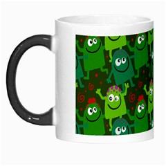 Seamless Little Cartoon Men Tiling Pattern Morph Mugs