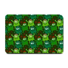 Seamless Little Cartoon Men Tiling Pattern Small Doormat