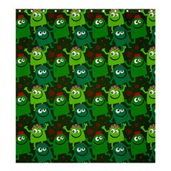 Seamless Little Cartoon Men Tiling Pattern Shower Curtain 66  X 72  (large)