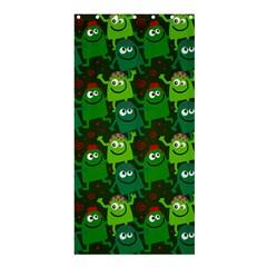 Seamless Little Cartoon Men Tiling Pattern Shower Curtain 36  X 72  (stall)