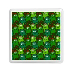 Seamless Little Cartoon Men Tiling Pattern Memory Card Reader (square)