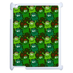 Seamless Little Cartoon Men Tiling Pattern Apple iPad 2 Case (White)