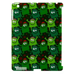 Seamless Little Cartoon Men Tiling Pattern Apple Ipad 3/4 Hardshell Case (compatible With Smart Cover)