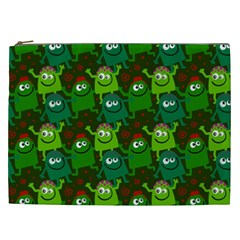 Seamless Little Cartoon Men Tiling Pattern Cosmetic Bag (XXL)