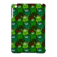 Seamless Little Cartoon Men Tiling Pattern Apple iPad Mini Hardshell Case (Compatible with Smart Cover)