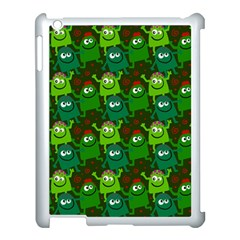 Seamless Little Cartoon Men Tiling Pattern Apple iPad 3/4 Case (White)