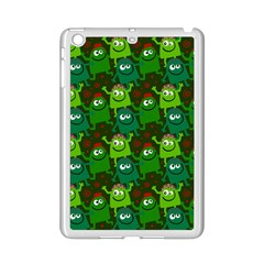 Seamless Little Cartoon Men Tiling Pattern iPad Mini 2 Enamel Coated Cases