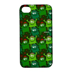 Seamless Little Cartoon Men Tiling Pattern Apple Iphone 4/4s Hardshell Case With Stand