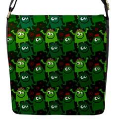 Seamless Little Cartoon Men Tiling Pattern Flap Messenger Bag (S)