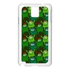 Seamless Little Cartoon Men Tiling Pattern Samsung Galaxy Note 3 N9005 Case (White)