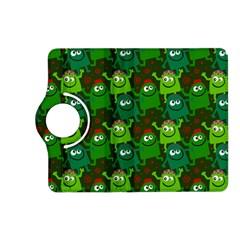 Seamless Little Cartoon Men Tiling Pattern Kindle Fire Hd (2013) Flip 360 Case