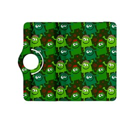 Seamless Little Cartoon Men Tiling Pattern Kindle Fire HDX 8.9  Flip 360 Case