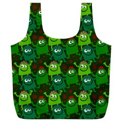 Seamless Little Cartoon Men Tiling Pattern Full Print Recycle Bags (L)
