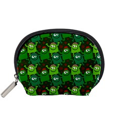 Seamless Little Cartoon Men Tiling Pattern Accessory Pouches (small)