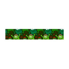 Seamless Little Cartoon Men Tiling Pattern Flano Scarf (Mini)