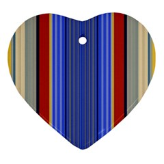 Colorful Stripes Background Ornament (heart)