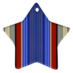 Colorful Stripes Background Ornament (Star)