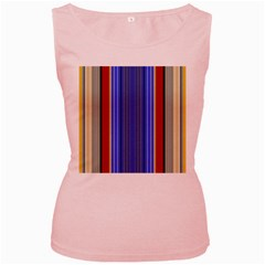 Colorful Stripes Background Women s Pink Tank Top