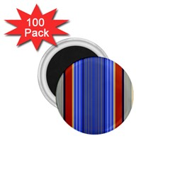 Colorful Stripes Background 1.75  Magnets (100 pack)