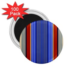 Colorful Stripes Background 2 25  Magnets (100 Pack)