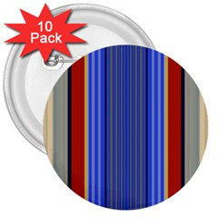 Colorful Stripes Background 3  Buttons (10 Pack)