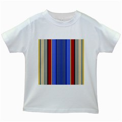 Colorful Stripes Background Kids White T-Shirts
