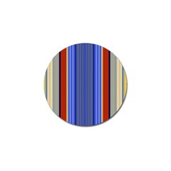 Colorful Stripes Background Golf Ball Marker