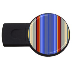Colorful Stripes Background USB Flash Drive Round (2 GB)