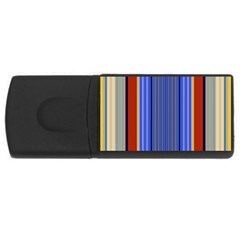 Colorful Stripes Background USB Flash Drive Rectangular (1 GB)