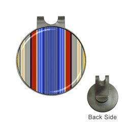 Colorful Stripes Background Hat Clips with Golf Markers
