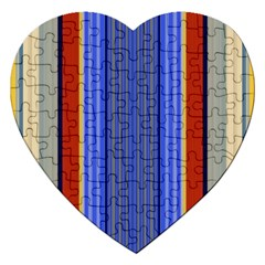 Colorful Stripes Background Jigsaw Puzzle (heart)