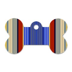 Colorful Stripes Background Dog Tag Bone (two Sides)