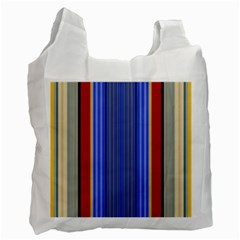 Colorful Stripes Background Recycle Bag (two Side)