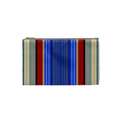 Colorful Stripes Background Cosmetic Bag (small)