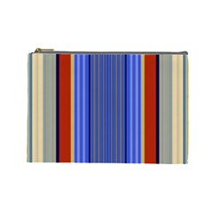 Colorful Stripes Background Cosmetic Bag (large)