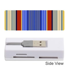 Colorful Stripes Background Memory Card Reader (stick)