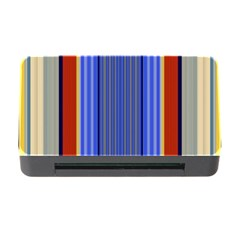 Colorful Stripes Background Memory Card Reader With Cf