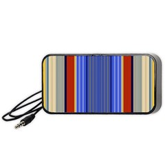 Colorful Stripes Background Portable Speaker (Black)