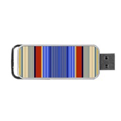 Colorful Stripes Background Portable USB Flash (One Side)